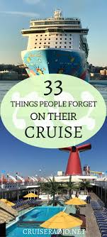 Top 10 Must Pack Cruise by 33 Things Forget On Their Cruise Cruise Vacation Cruises