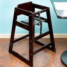 lancaster table and seating table seating assembled stacking restaurant wood high chair with