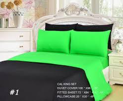 Cal King Duvet Cover Tache 4 6 Pieces Lime Green Black Reversible Duvet Set U2013 Tache