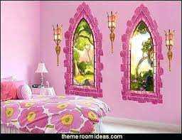 Disney Princess Room Decor Disney Princess Bedroom Decor Princess Wallpaper And Pink Bed For