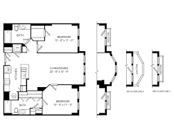 Rivergate Floor Plan by Floor Plan Availability For 1301 Thomas Circle Washington Dc