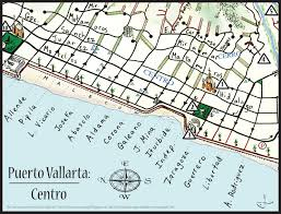 Puerto Vallarta Mexico Map by Mapa Jeff Cartography Puerto Vallarta Maps