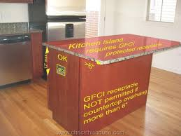 kitchen island power kitchen gfci receptacle and other electrical requirements