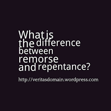 what is the difference between remorse and repentance the