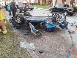accident del prado s car flipped over cape coral florida life