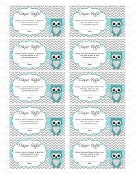 owl baby shower diaper raffle ticket diaper raffle card
