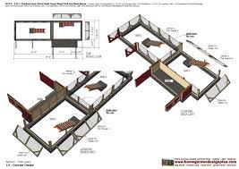 split plan home garden plans m113 2 in 1 chicken coop plans split