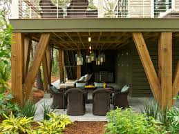 Dream Decks by Heavy Timber Supports With Under Deck Patio Space And Cool Wire