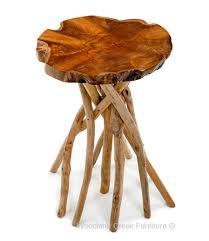 Wood Slab End Table by Slab Side Table Branch End Table Rustic Natural