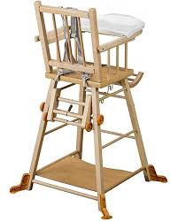 combelle marcel solid beech wood convertible high chair natural