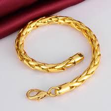 gold bangle bracelet men images 2015 new men 39 s jewelry thick twist chains 6mm 18k golden 8 39 39 20cm jpg