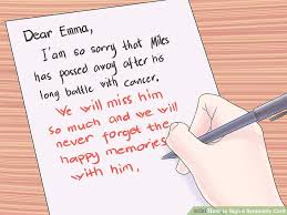 condolence card 3 ways to sign a sympathy card wikihow