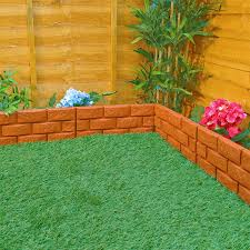 plastic garden edging ideas brick brick effect plastic hammer in garden edging terracotta style