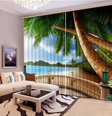 sea view living room modern sheer curtains living room curtains balcony sea view window