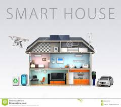 energy efficient house designs smart house with energy efficient appliances stock illustration