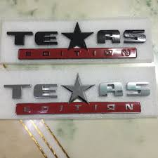 texas jeep stickers online shop 2 colors texas edition fender car badge sticker abs