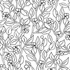 Decorative Flowers by Vector Seamless Monochrome Floral Pattern Hand Drawn Floral