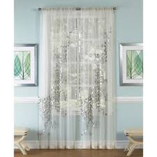 216 Inch Curtains Buy Silver Sheer Curtains From Bed Bath U0026 Beyond