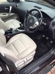 qashqai nissan interior nissan qashqai tekna dci 5dr 1 5 11 reg cream leather interior