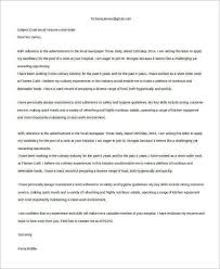 sample email cover letter 8 examples in word pdf