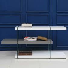 high gloss white bookcase vanquish gray white modern bookcase eurway