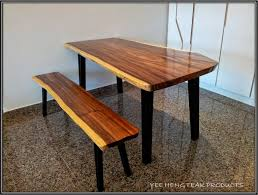 Raw Edge Table by Wooden U0027natural Looking U0027 Dining Table Home Furnishings