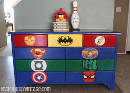 Superman Bedroom Decor by Superhero Dresser Commission Dressers Superhero And Dresser