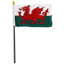 Plastic Flags Wales Flag 4 X 6 Inch
