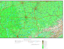 Ky Road Map Kentucky Printable Map