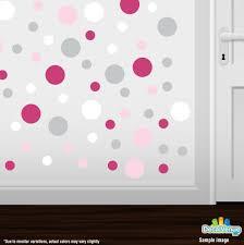 baby pink hot pink light grey white polka dot circles wall baby pink hot pink light grey white polka dot circles wall decals