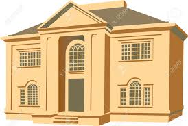an illustration of a two story house royalty free cliparts