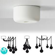 Multiple Lamp Shade Chandelier by Nouveauté Muuto La Rosace Multiple Pour Suspension Ampoule E27