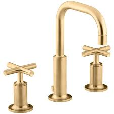 copper bathroom faucet shop kohler purist vibrant moderne brushed gold 2 handle