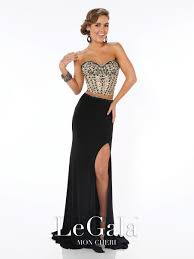 size 2 black gold mon cheri le gala 116564 two piece prom gown