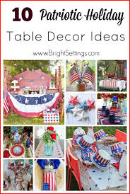Holiday Table Decorating Ideas Patriotic Holiday Table Decor The Bright Ideas Blog