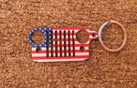 jeep american flag jeep cj grille keychain
