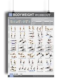 at home workout plans for women bodyweight exercise poster now laminated personal trainer gym