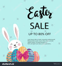 painted easter eggs for sale typographic easter sale poster flyer design stock vector 579296887