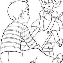 children sharing coloring pages az coloring pages free kids