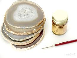 agate coasters diy gilded agate coasters practical panache