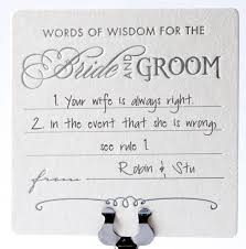 and groom advice cards my advice for the and groom cards wedding tips and inspiration