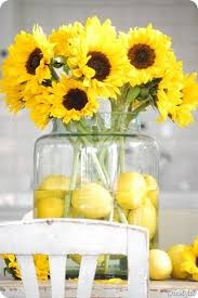 table centerpieces with sunflowers sunflowers lemons centerpieces i know this has nothing to do