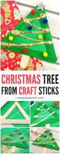 christmas tree from craft sticks craft sticks tree crafts and