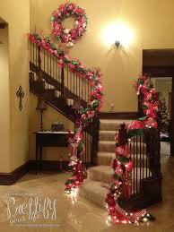 Banister Decorations A Whole Bunch Of Christmas Staircase Decorating Ideas U2014 Style Estate