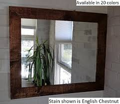 amazon com renewed décor shiplap reclaimed wood mirror in 20