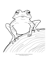 printable woodland frog coloring page the inky octopus