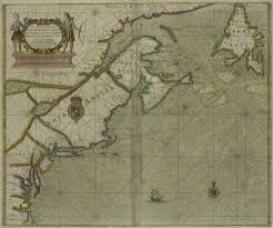 New England Coast Map by The U201cnew England U201d Cartouche Tablets Tableaux And Theatricality