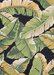 Couristan Outdoor Rugs Covington 4972 4000 Rainforest Forest Green Black Area Rug By