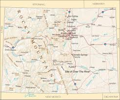 Map Of The Colorado River by The Site Of Over The River In The State Of Colorado Christo And