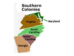 13 Colony Map Southern Colonies History Showme